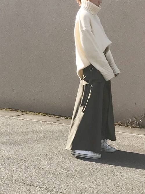 [UNITED TOKYO] ミリタリーボリュームフレアスカート