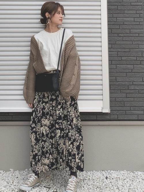 [titivate] プリーツロングスカート