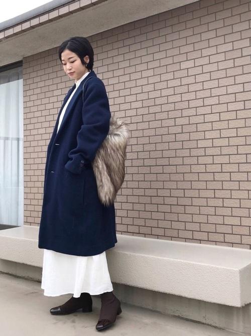 名古屋 1月 服装 ワンピースコーデ5