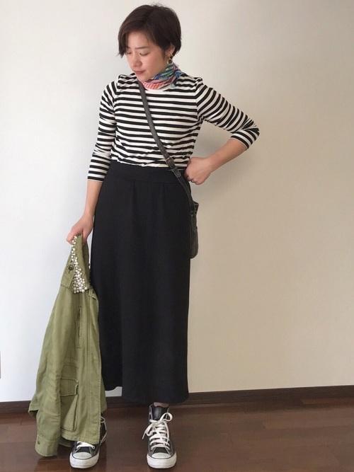 【ユニクロ】ロングタイトスカート