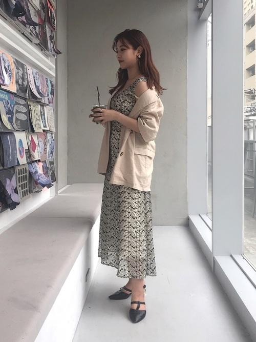 [mystic] リネン混半袖ジャケット /セットアップ