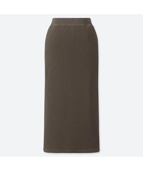 リブタイトロングスカート