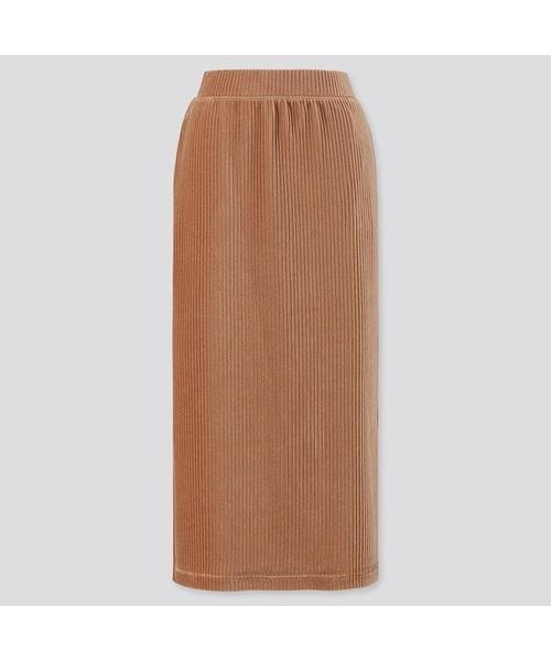 ユニクロ コーデュロイロングナロースカート