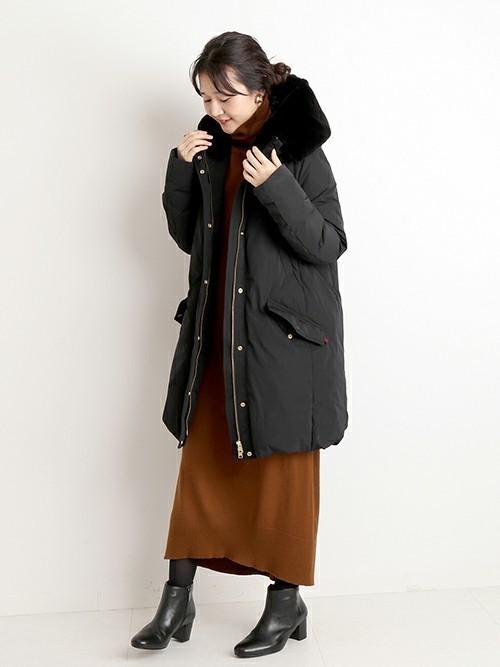 名古屋 1月 服装 ワンピースコーデ3