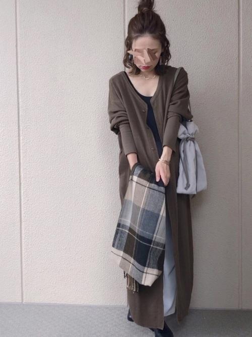 [ROOP TOKYO] made in standard/メイドインスタンダード 3way ワッフルボタンロングワンピース
