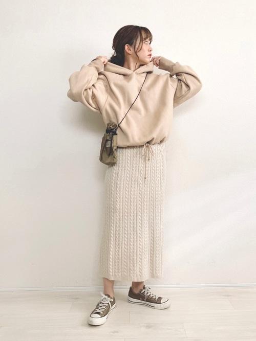 GUスカートで秋コーデ