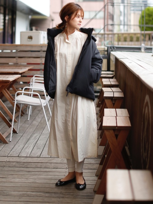 1[TODAYFUL] ギャザーシャツドレス