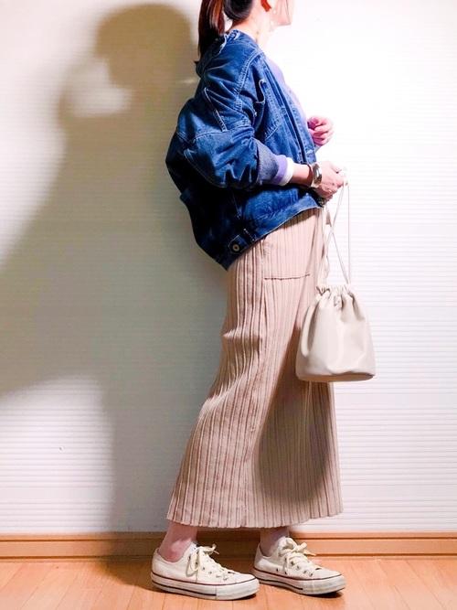 [w closet] ポケット付きロングスカート