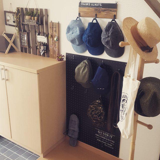 おしゃれな帽子収納アイデア《玄関》