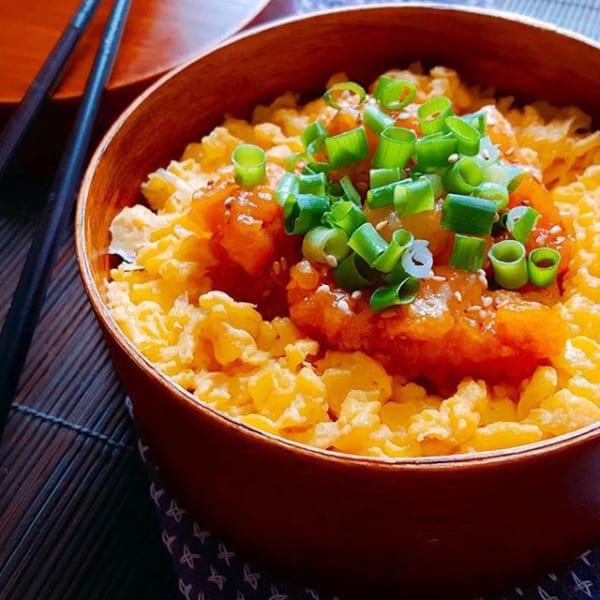 アレンジレシピ!甘辛チキンで親子丼弁当