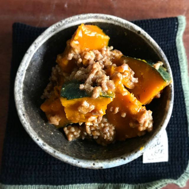 レンジで簡単作り置き!かぼちゃのひき肉とろみあん
