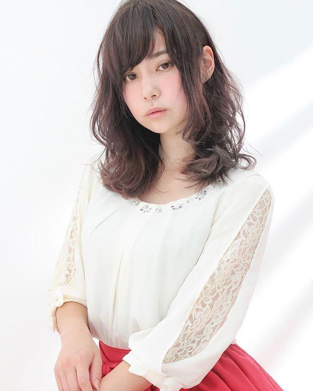 スーツ ヘアアレンジ 巻き髪4