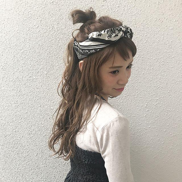 40代女性のヘアアレンジ セミロング・ロング6