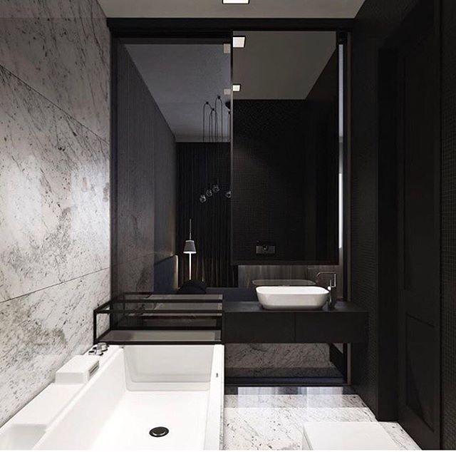 ホテルライクな高級感のあるバスルーム実例