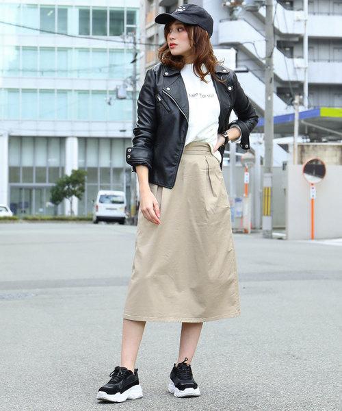 4[Fashion Letter] ダブルライダースジャケット / 19秋冬 / 大きいサイズ