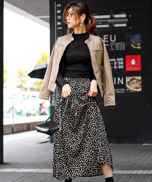 [Fashion Letter] シングルライダースジャケット / 19秋冬 / 大きいサイズ