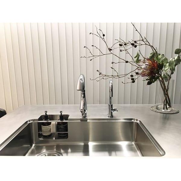 ステンレスクリーナーを使ったキッチンシンク掃除