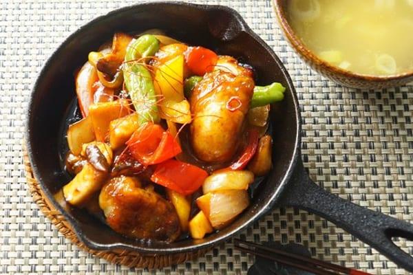 揚げ焼きの調理方法で!牡蠣のクンポー炒め