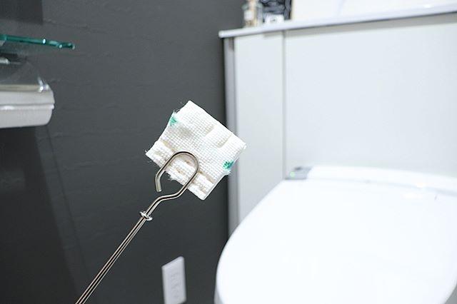 【無印】柄つきスポンジフレームでトイレ掃除