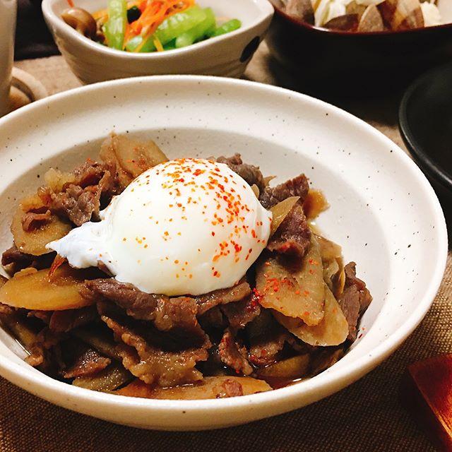 おすすめのレシピ!牛バラ肉とごぼうの煮物