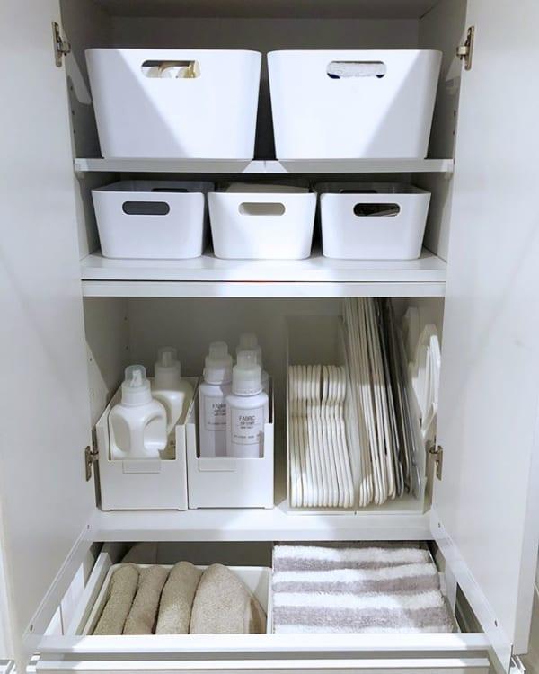 洗面所ドロワーを上手に使うすっきり見え保管