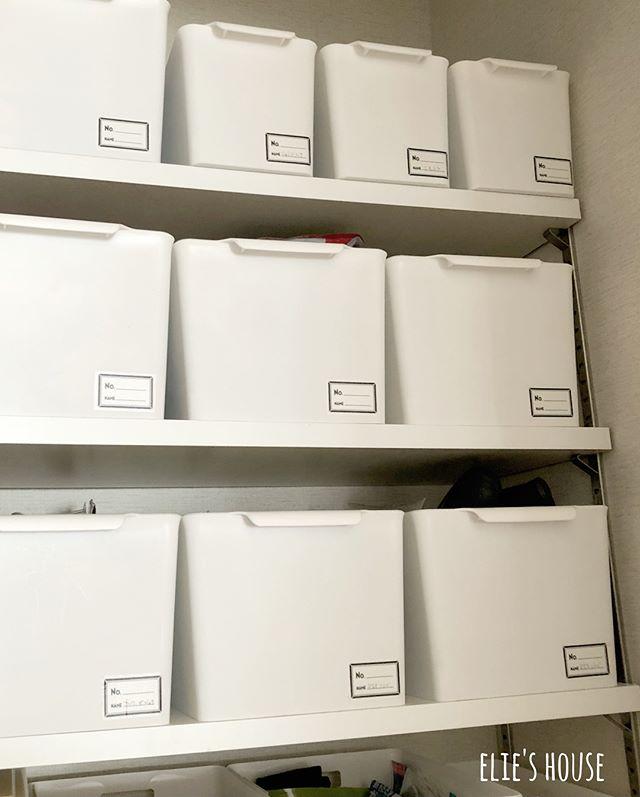 ボックスを活用したドリンク類の収納4