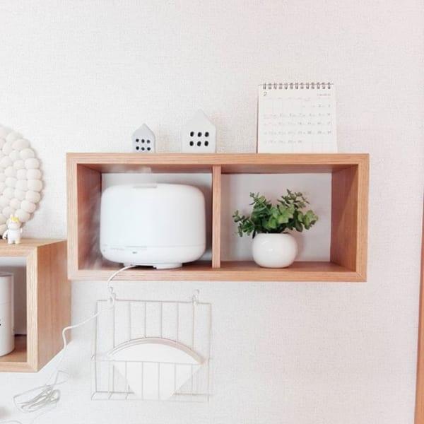 無印「壁に付けられる家具」でディフューザー