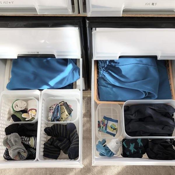 取っ手付きボックスの取り出しやすい収納