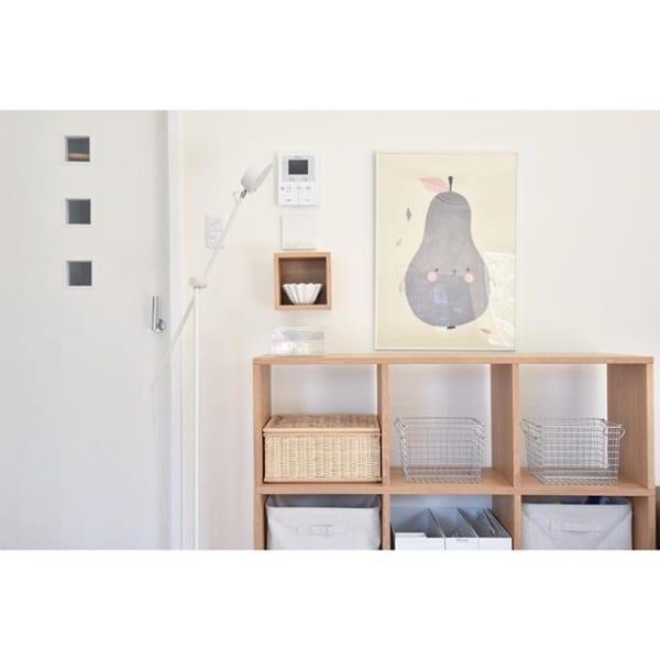 無印「壁に付けられる家具」でキー収納