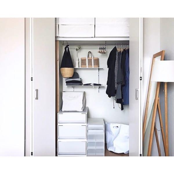 DIY棚を使う一人暮らしの整頓アイデア