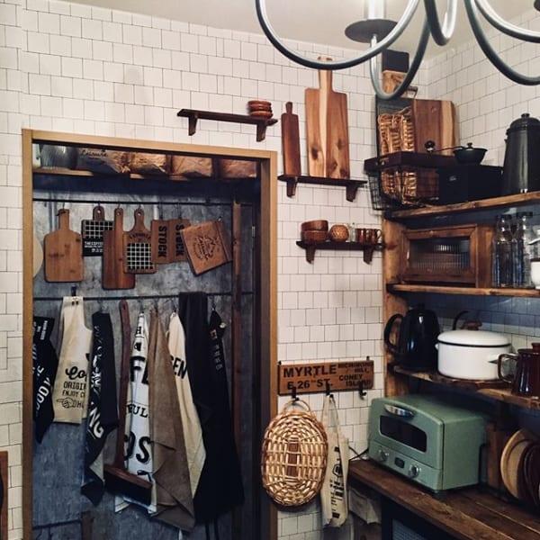 木製棚や雑貨にも似合うレンガシート