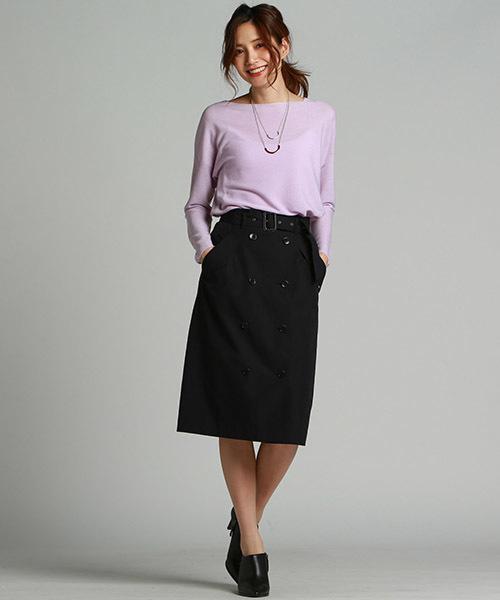 [LAUTREAMONT ONLINE SHOP] タイトできれい目なトレンチディテールスカート