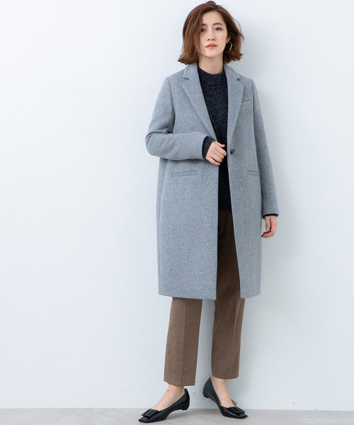 [STUDIOUS WOMENS] 【STUDIOUS】SUPER140'S WOOL チェスターコート