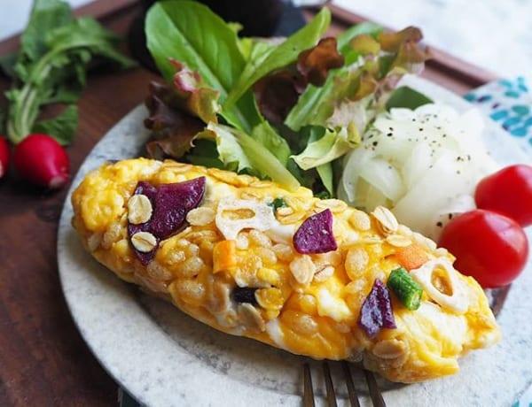 朝食に人気のレシピ!ライスグラノーラdeオムレツ