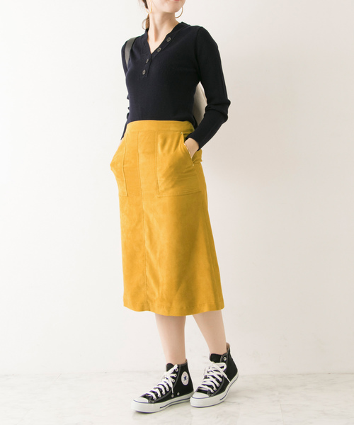 [URBAN RESEARCH] フェイクスウェードカラースカート