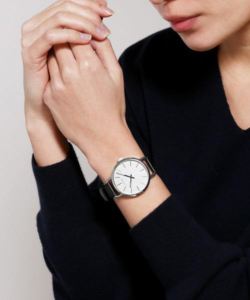 [CALVIN KLEIN WATCHES+JEWELRY] [カルバンクライン] CALVIN KLEIN 腕時計 Even(イーブン) 2針 シルバー×シルバー