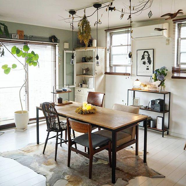 カフェ風 リビングインテリア 家具の選び方3