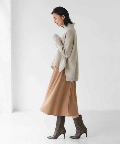 温かみのあるフレアスカート