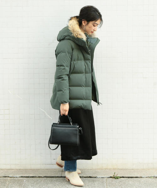 [BEAUTY&YOUTH UNITED ARROWS] BY∴ ラインスタッズボストンバッグ -2WAY-