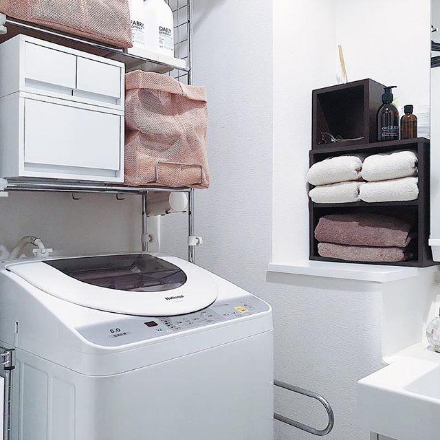 便利でおしゃれな一人暮らし部屋の脱衣所