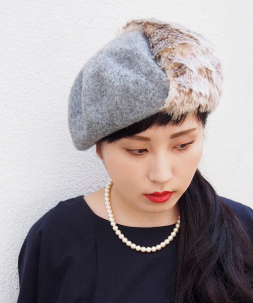 [polcadot] バスクファーベレー帽