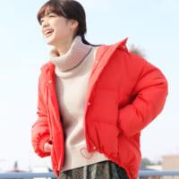 赤ダウンコーデ21選♡みんなの注目を集めるおしゃれなレディースファッション♪