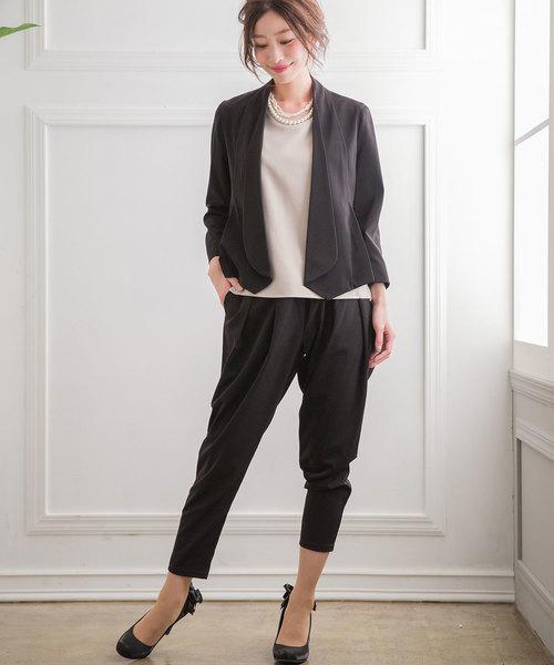 [Fashion Letter] ショールカラー ボレロ ドレスジャケット