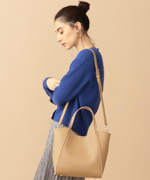 [BEAUTY&YOUTH UNITED ARROWS] BY∴ フェイクレザーボールチェーン トートバッグ -2WAY-