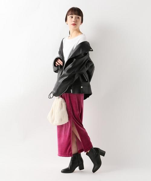 [JOURNAL STANDARD] トリアセベロアロングスカート