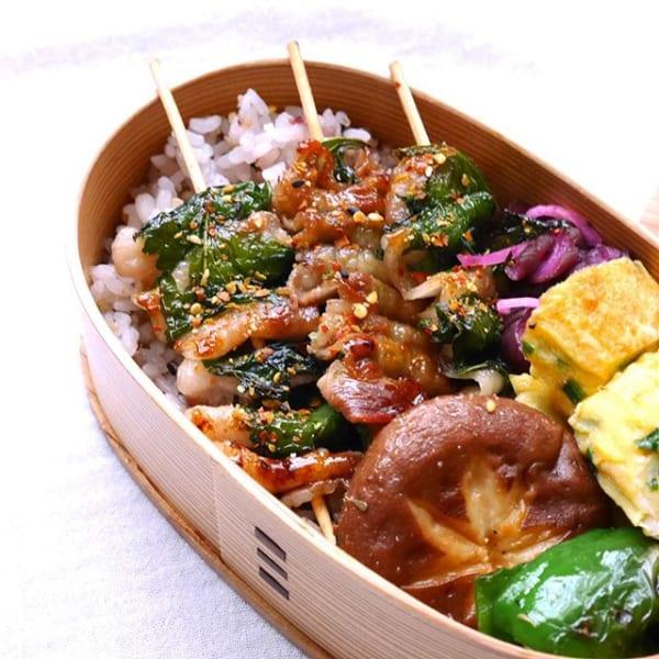 豚バラと紫蘇の串焼き丼弁当