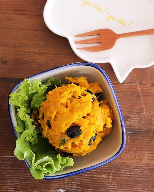 常備菜で作り置き!人気の黒豆入りかぼちゃサラダ