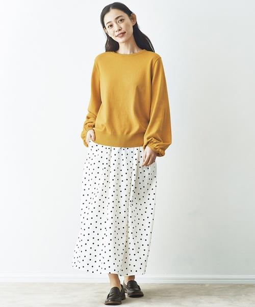 [FELISSIMO] and myera 水玉模様のスカート