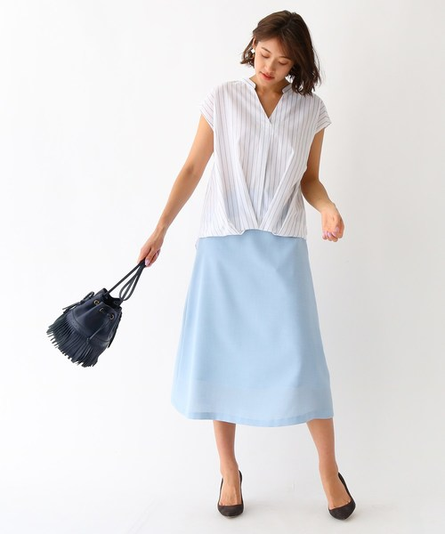 [aquagirl] ツイルヴィンテージ 台形スカート