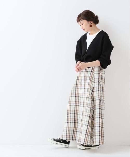 [IENA] nicholson & nicholson チェックロングスカート